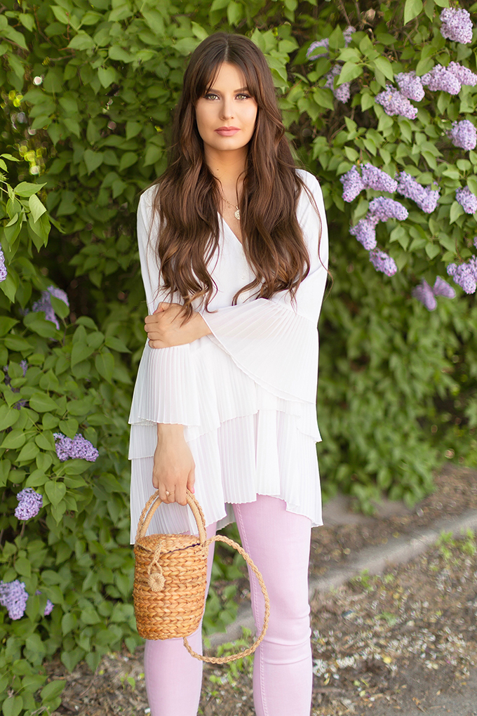 Spring 2018 Trend Guide | Lavender Love | Ruffled, Tiered Pleats | Calgary, Alberta Fashion Blogger // JustineCelina.com