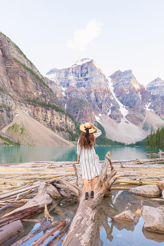 July 2018 Soundtrack | Exploring Morraine Lake in the Summertime | Morraine Lake at Sunset | Alberta Travel Lifestyle Blogger // JustineCelina.com
