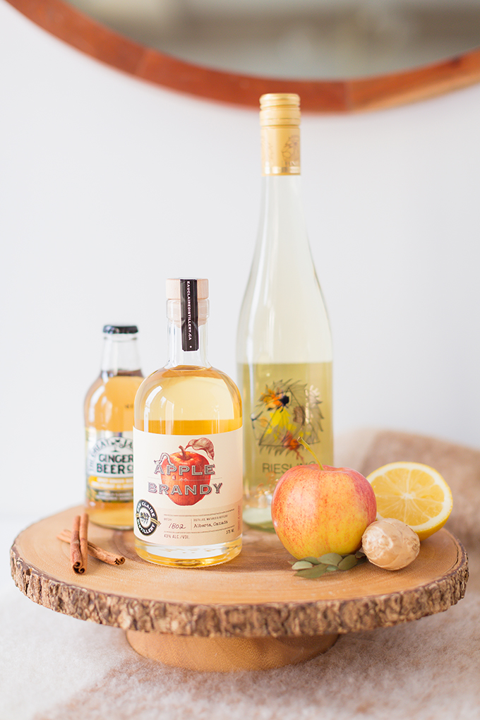 Late Harvest Spiced Apple Sangria   Featuring Eau Claire Distillery's Apple Brandy, late harvest riesling and ginger beer // JustineCelina.com
