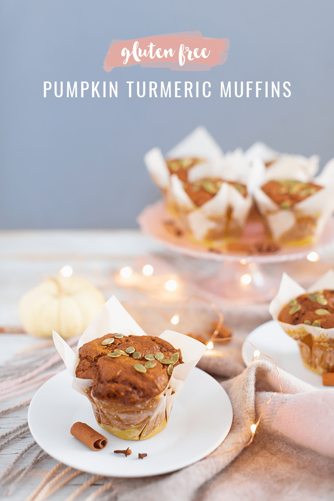 #GlutenFree #Pumpkin #Turmeric #Muffins | Healthy, Plant Based Pumpkin Muffins | Superfood Muffins | Healthy Turmeric Recipes | Vegetarian Muffins Recipes | The Best Gluten Free Muffins Recipe // JustineCelina.com