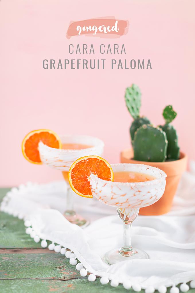 Gingered Cara Cara Grapefruit Palomas | #GlutenFree #RefinedSugarFree #Vegan Cocktail | The Best Grapefruit Paloma Recipe | Simple Citrus Cocktail | Cara Cara Orange Cocktail | Easy Paloma Recipe | Easy Citrus Paloma | Grapefruit Paloma Recipe | Tequila Grapefruit Paloma | Reposado Tequila Cocktail | Grapefruit Paloma Cocktail Recipe | Easy Paloma Cocktail | Refined Sugar Free Cocktails | Refined Sugar Free Cocktail Recipes | Clean Cocktails | Clean Tequila Cocktail // JustineCelina.com