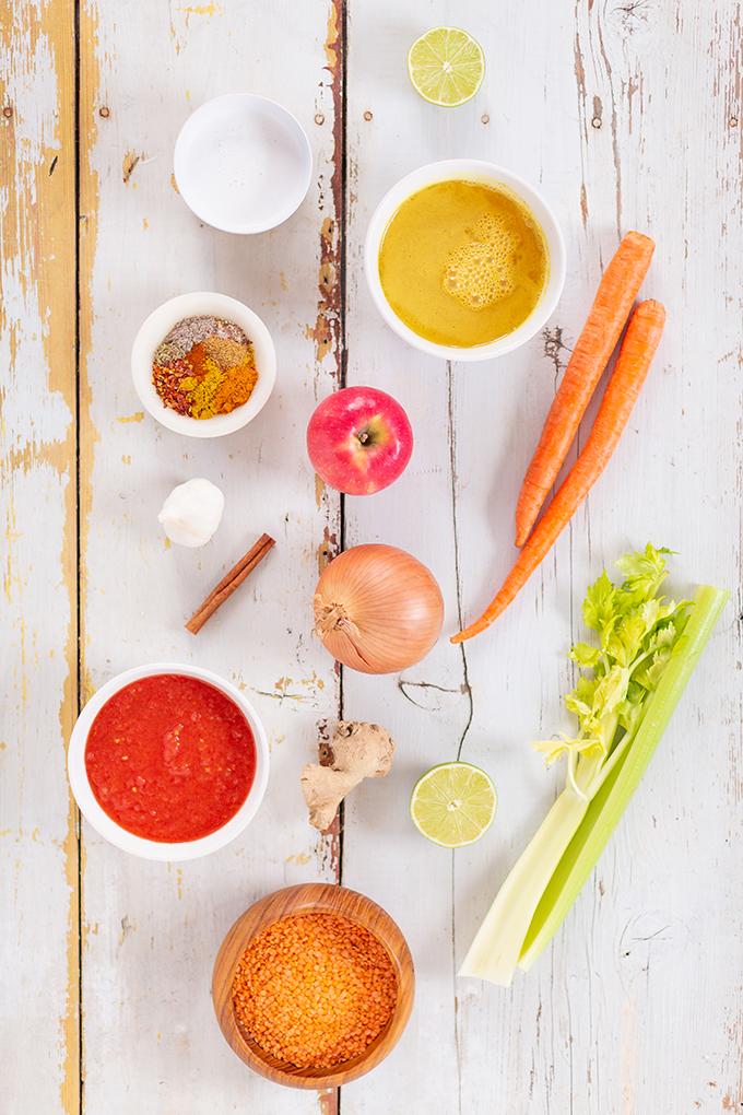 Slow Cooker Vegan Mulligatawny Soup with Red Lentils | #vegan #glutenfree | Plant Based Ingredients to Make Vegan Mulligatawny | The best vegan mulligatawny soup slow cooker recipe | vegetarian mulligatawny soup | vegetarian mulligatawny soup recipe lentils | vegetarian mulligatawny soup slow cooker | mulligatawny soup crock pot | best winter vegan slow cooker recipes // JustineCelina.com