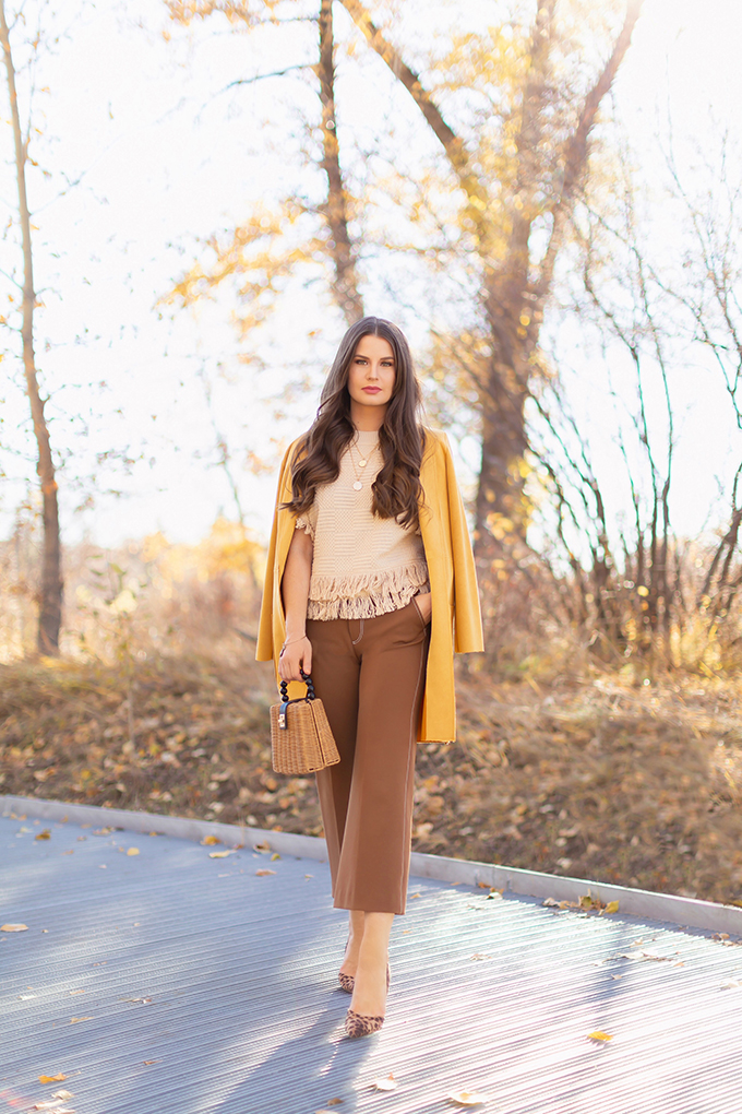 a8592a9298 Autumn 2018 Lookbook | How to Style Culottes for the Office | Brown 70's  Style Culottes