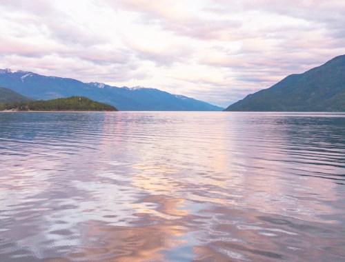 May 2019 Soundtrack | Kootenay Lake at Sunset | View from the Kootenay Bay Ferry at Sunset // JustineCelina.com