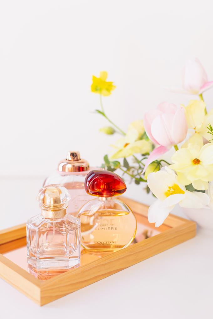 My Favourite Floral Fragrances | The Best Floral Fragrances for Spring | Floral Fragrances 2020 | The Best Luxury Floral Fragrances | Designer Floral Fragrances 2020 | Classic Floral Perfumes | Best Floral Perfumes of all Time | Best Fruity Perfumes | Citrus Floral Perfumes | Coach Floral Eau de Parfum Photos and Review | L'Occitane Terre de Lumière Eau de Parfum Photos and Review | Mon Guerlain Eau de Parfum Photos Review | Calgary, Alberta Beauty & Lifestyle Blogger // JustineCelina.com