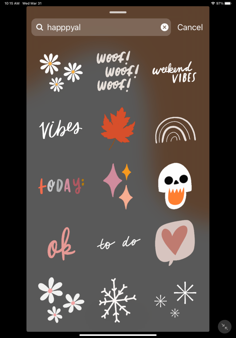 30 AESTHETIC STICKERS FOR YOUR INSTAGRAM STORY