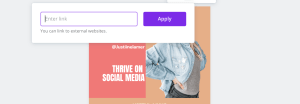 how to make a free link in bio for Instagram in Canva