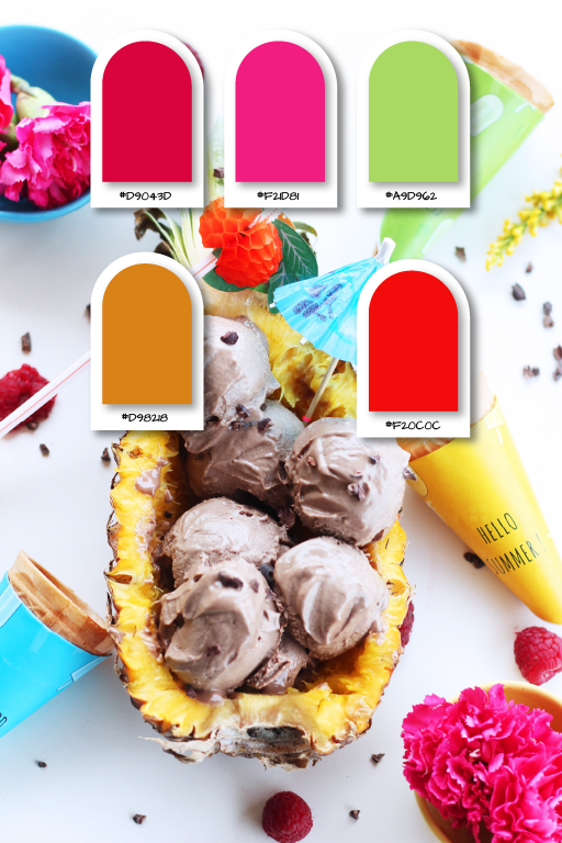 10 SUMMER AESTHETIC COLOR PALLETTES