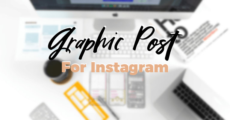 How to make a graphic post for Instagram