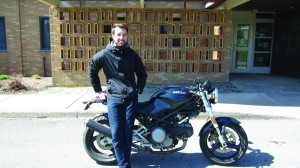 Winkworth on his motorcycle | Justine Polonski