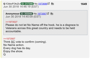 Q Knew Exact Day Of No Name Death? JUSTINFORMED NEWS