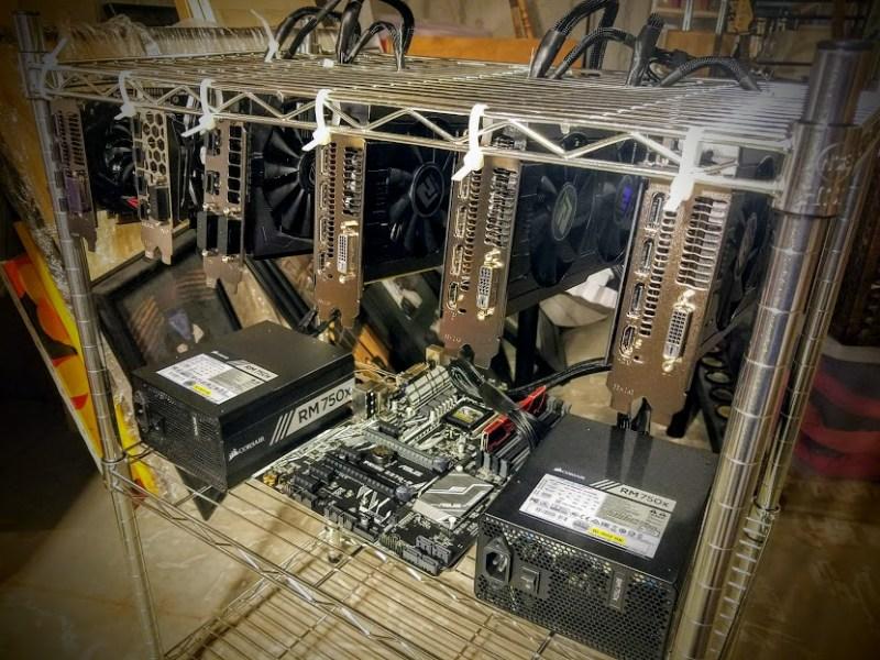 Ethereum Mining Rig Setup Racking
