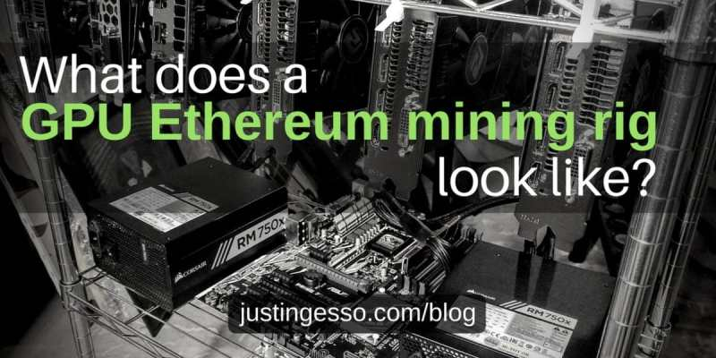 What does a GPU Ehtereum mining rig look like