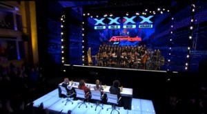 2013-06-04 3penny on America's Got Talent - whole theater judges from back JPG