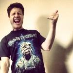 Justin Jackson air guitar Iron Maiden