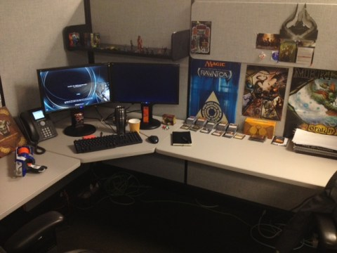 My workstation at WotC.