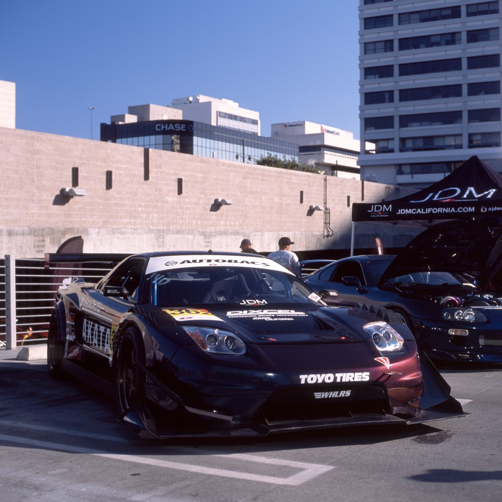 NSX with a full aero body kit for time attack