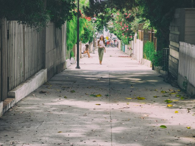 Girl leaving the Venice Boardwalk