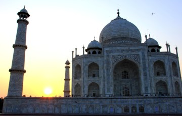 The Majestic Taj Mahal at Sunset