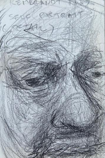 Rembrandt van Rijn,National Gallery London, Justino, lápis nº3, 2017.