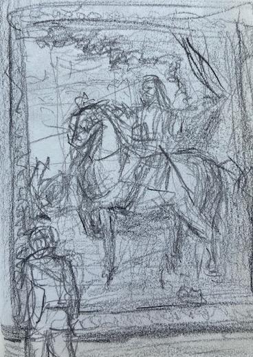 Anthony van Dyck, National Gallery London, Justino, lápis nº3, 2017.
