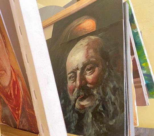 Série Retratos Contemporâneos- 4, Justino, fotografia de óleo em tela, 2020.