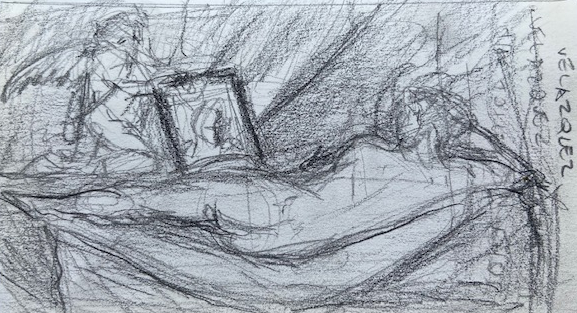 Diego Velázquez, National Gallery London, Justino, lápis nº3, 2017.