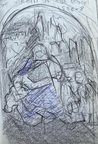Leonardo Da Vinci, National Gallery London, Justino, lápis nº3, 2017.