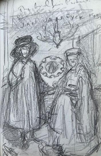 Jan van Eyck, National Gallery London, Justino, lápis nº3, 2017.