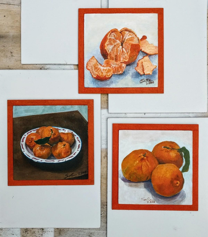 Tres mandarinas paraguayas