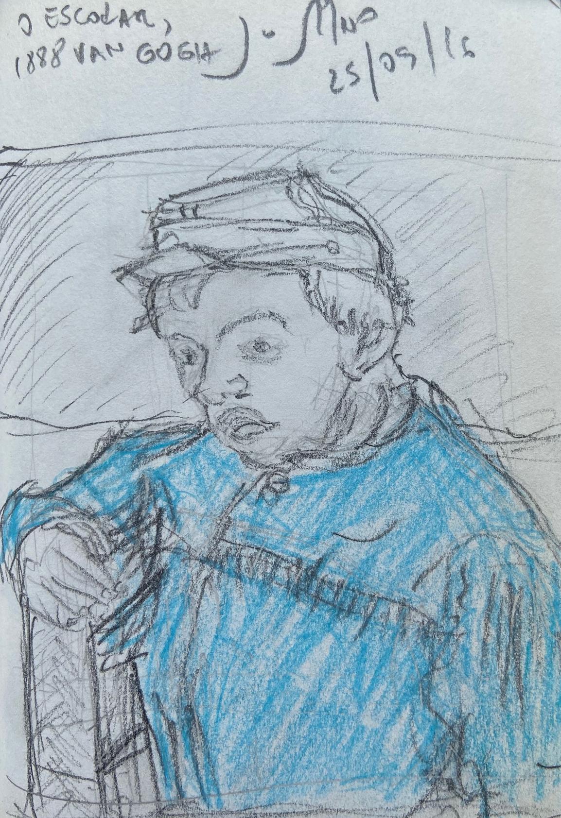 Vincent van Gogh, MASP,Justino, lápis nº3, 2016.