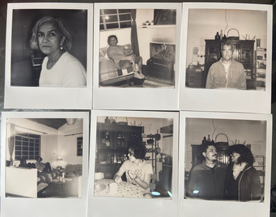 Retratos contemporâneos - 9, Justino, polaroid, 2020.