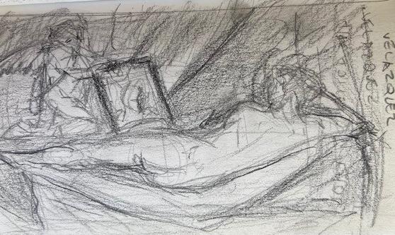 Velázquez, National Gallery London, Justino, lápis, 2017.