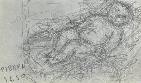 Ribera, Louvre, Justino, Lápis, 2017.