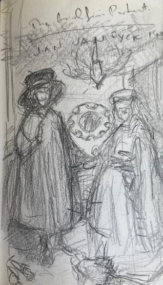 Van Eyck, National Gallery London, Justino, lápis, 2017.