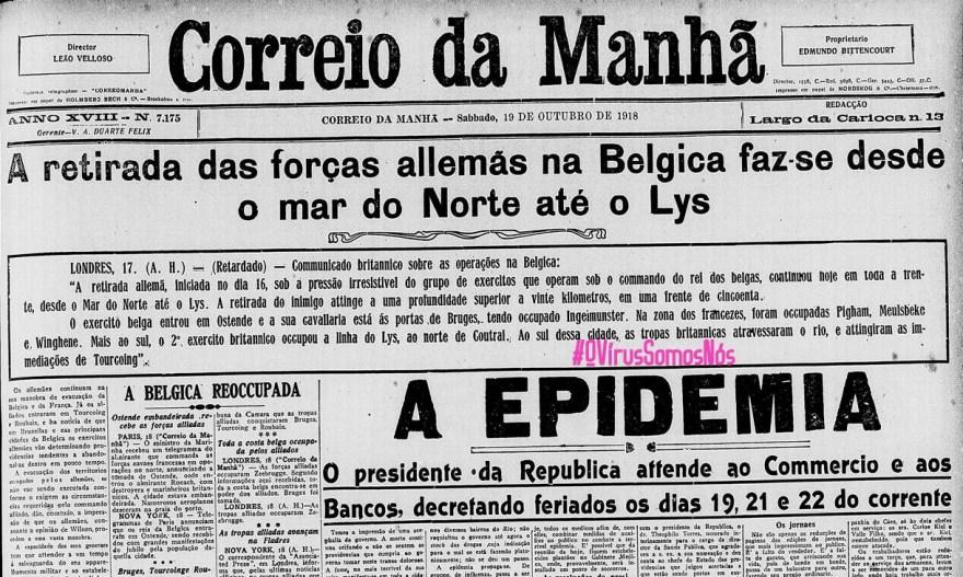 OVírusCorreioDaManha1918, Justino, 2020.