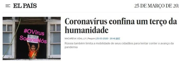 #OVírusSomosNós: Eliane Brum no El País