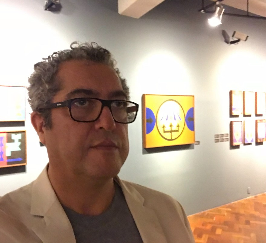 Na mostra do grande Rubem Ventim, na Caixa Federal, em São Paulo, 2018.