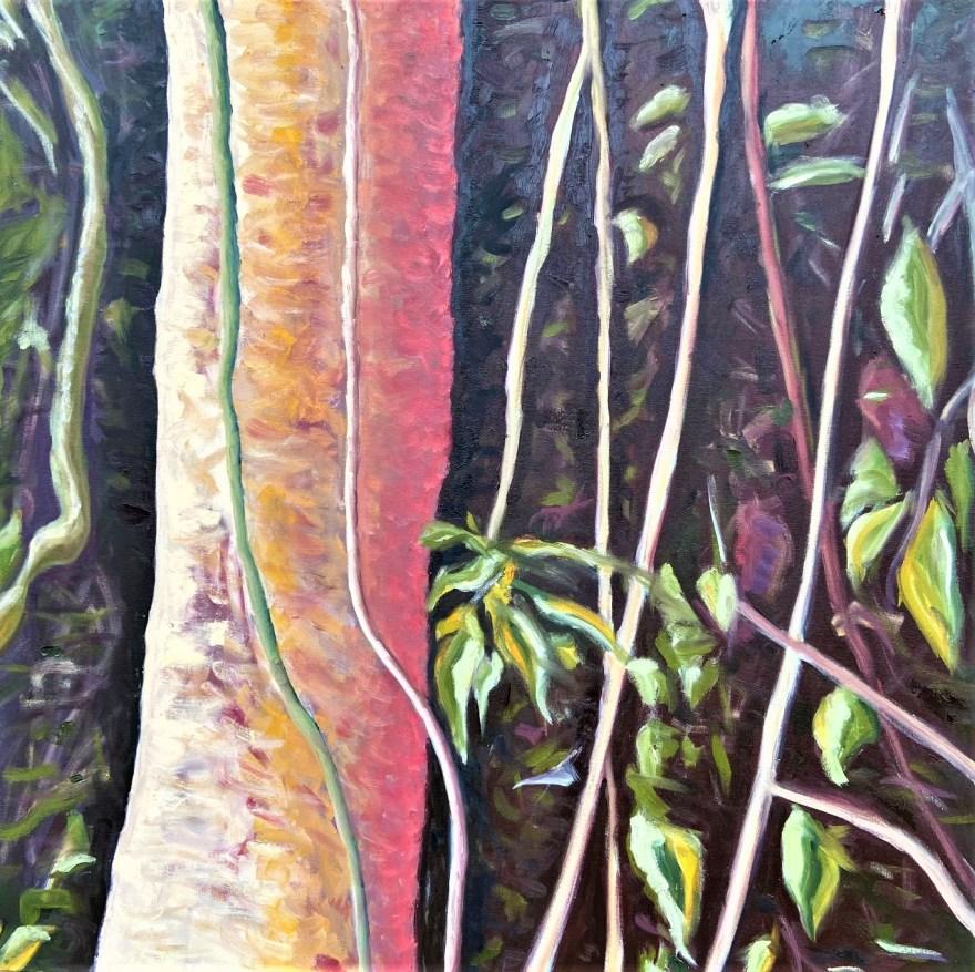 Mantiqueira: Começo, Meio e Fim - Parte 6, Justino, óleo em tela, 80 x 80 cm, 2021.