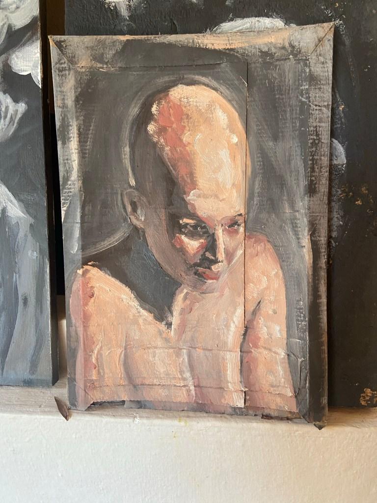 """Eliane"", Justino, óleo em canvas board, 30cm x 20 cm, 2021."