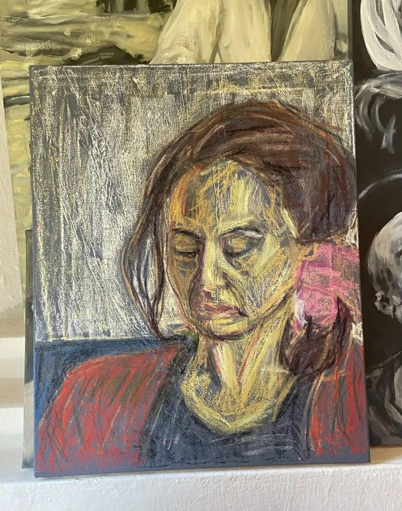 """""""Suzi"""", Justino, pastel em tela,, 60  cm x 40 cm, 2021."""
