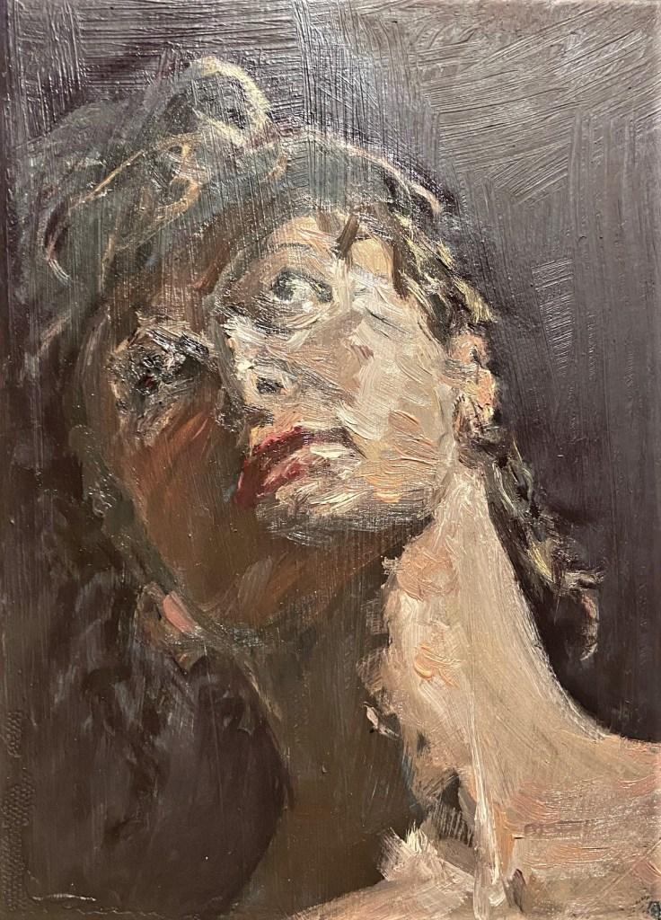 """Savannah"", Justino, óleo em canvas board,k23 cm x 16,5 cm, 2021"