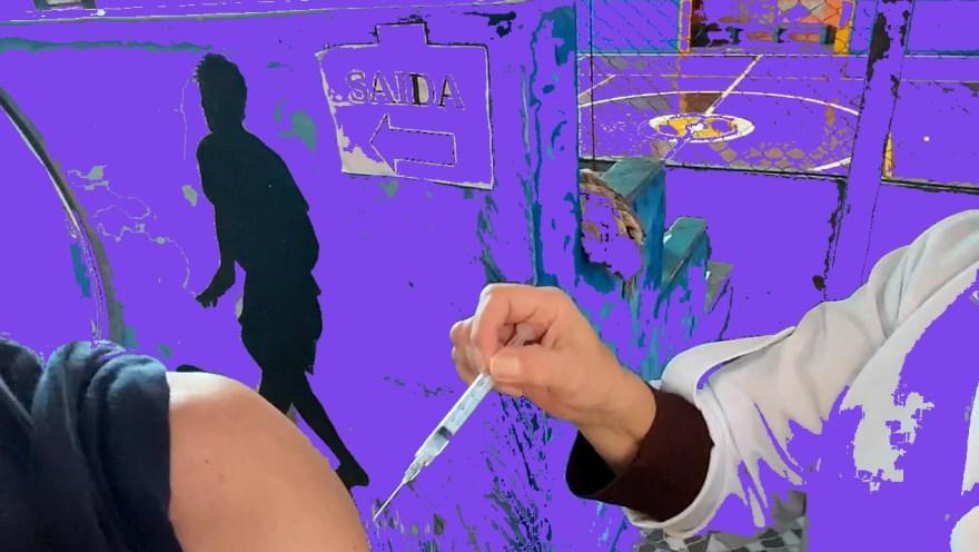 #OVírusSomosNós- VOLUME 3: Um homem tentando trapacear. 2021. Fotografia digital manipulada.