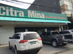 Citra Mina, where you buy seafood that you can take home. They have good packaging.