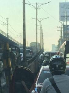 Multiple buses parking in their terminal. causing heavy traffic during peak hours.