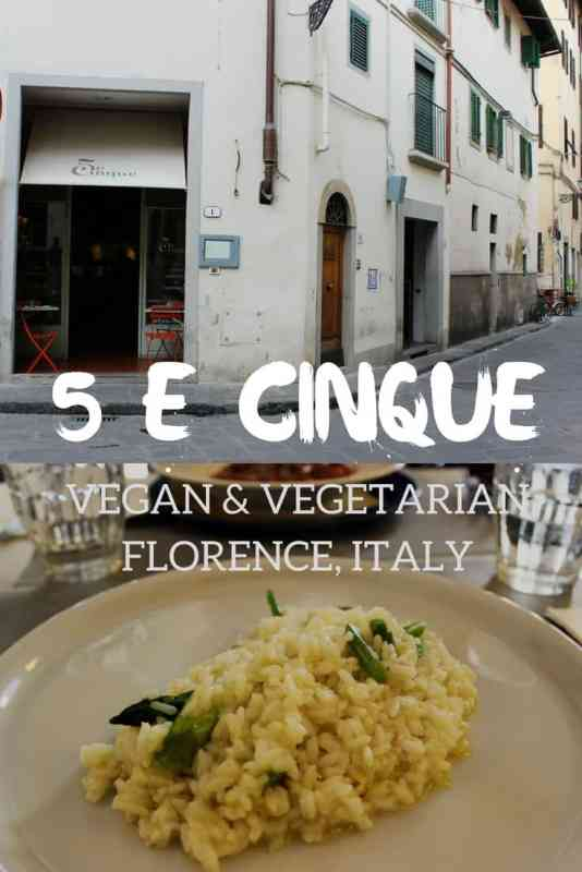 5 e Cinque Vegan Vegetarian Restaurant in Florence, Italy