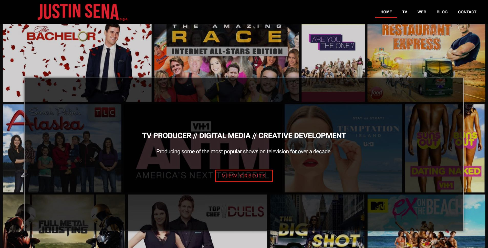reality and unscripted tv producer justin sena website