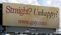 Straight? Unhappy? Billboard Parody