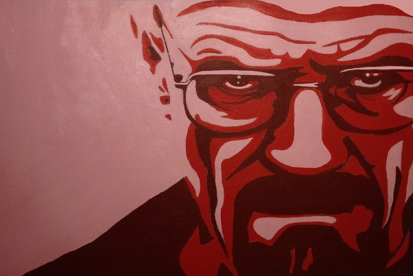Breaking bad Walter White face with a red background