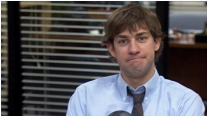 Jim Halpert looking into camera